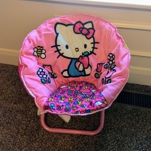 Hello Kitty Pink Foldable Saucer Chair